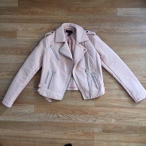 Forever 21 Nude/ Blush pink vegan leather jacket